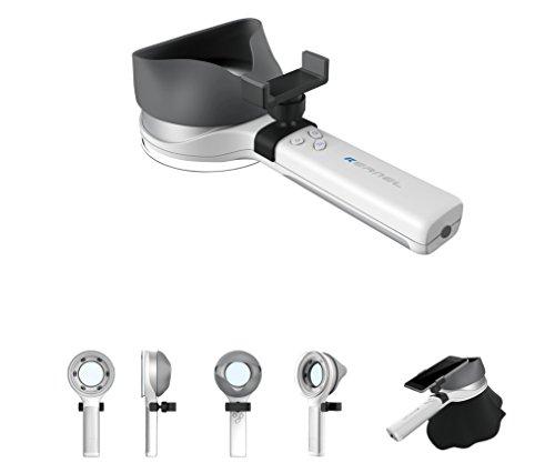 Holz-Lampe mit Lupe, UV-Lampe und Smartphone Kamera Halterung für Die Untersuchung der Haut Bedingungen (Kernel Modell kn-9000b) (Uv-lampe Langwellige)