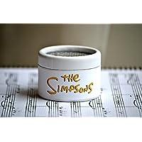 Caja de música de Los Simpsons. El regalo perfecto para los seguidores de la serie. Manivela de música manual.