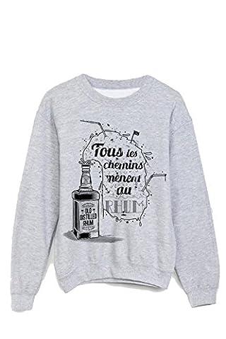 Sweat-Shirt tous les chemins mènent au rhum ref 1086 - XL