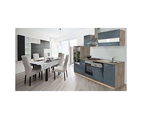 Respekta lbkb280esg - cucina componibile americana, in rovere grezzo, 280 cm, colore: grigio