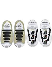 SCHNÜRRLIE Elastische Silikon Schnürsenkel - schleifenlose Schnürbänder Ersatz ohne Binden - Kinder & Erwachsene