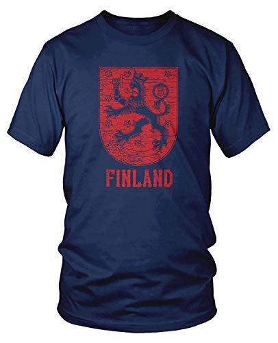 Men's Finn Coat of Arms, Coat of Arms of Finland T-Shirt M - Vergnügen, Kokosnuss