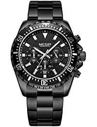 306a1dfd6833 Zz max Business Casual Fashion Watch Impermeable Deportes al Aire Libre  Multifunción Mens Luminoso Reloj de