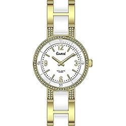 Garde' Uhren aus Ruhla Damenuhr Titan / Keramik Elegance 91323