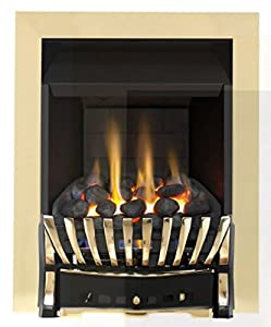 Eastleigh Slimline Convector Gas Fire - Chrome/Black-P