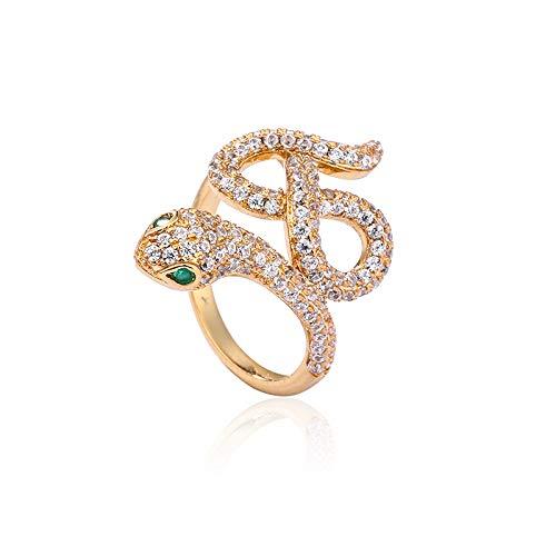 Diamond Studded Lady, Vergoldete Ringe, Nr.5