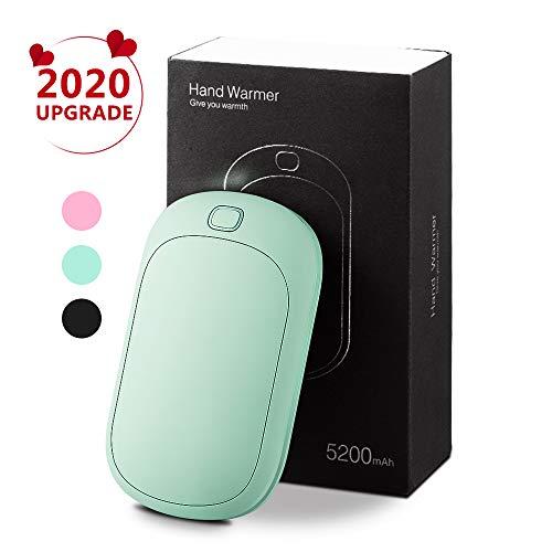 Rayrow Wiederaufladbare Handwärmer, Handwärmer tragbar,5200mAh USB Power Bank, Wärme ideal für arthritische Patienten Schmerzlinderung, doppelte Seitentasche Handwärmer, Geschenk für den Winter
