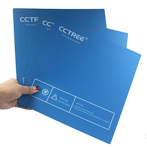 CCTREE 3D Drucker Build Surface For Ender-3,Anet A8,TEVO Tarantula Prusa i3 DIY 3D Printer 235X235MM (Pack of 3)
