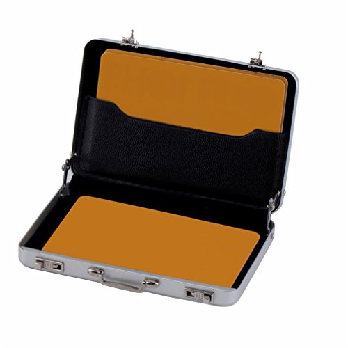 Features:Store your business cards.Aluminum construction blocks.Keeps your cards clean and undamaged.Suitable for about 30 cards.Made of aluminum material, very durable for use.Descriptions:Portable size, easy to carry and use.Looks just like the ...