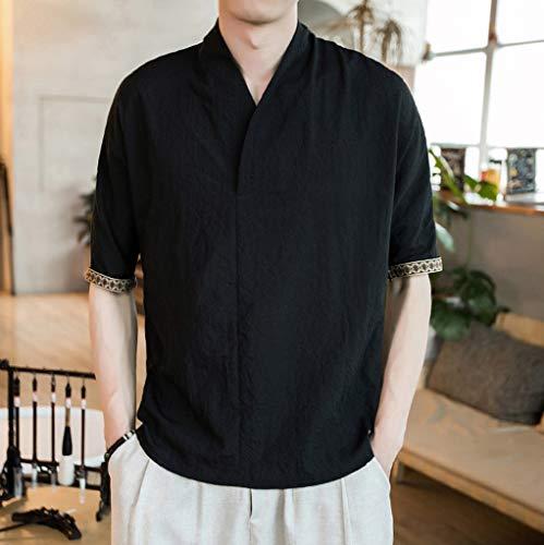 wholesale dealer f5de9 eea94 Camicie Uomo Lino Vovotrade Uomini di Marca Casual Maniche Lunghe di Lino  Camicie Beach Camicia a Maniche Corte Casual