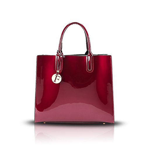 Sunas Portafoglio superiore della borsa della borsa del messaggero della spalla di modo della borsa delle donne vino rosso