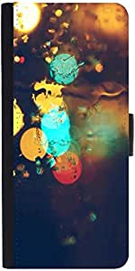 Snoogg Rain Lightsdesigner Protective Flip Case Cover For Sony Xperia Z5