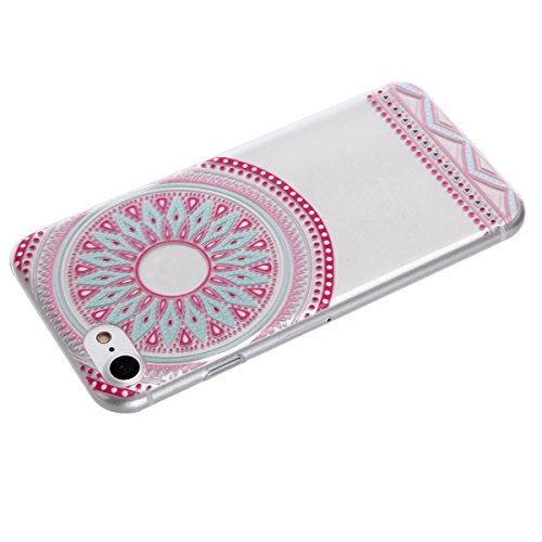 iPhone 7 Plus Totem Case, Per Apple iPhone 7 Plus Cover Silicone, Asnlove Custodia Crystal Case 3D Flessible TPU Silicone Lucida Trasparente Bumper Gomma Caso Stilosa Custodia di Design in Morbido TPU Color5