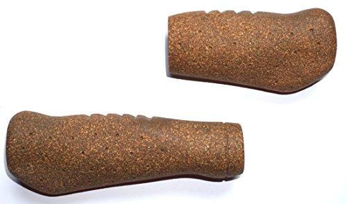 Fahrradgriffe Gel + Kork braun lang / kurz ergonomisch geformte Lenkergriffe , das flügelförmige Design verhindert wirkungsvoll ein Abknicken der Handgelenke und beugt einem Ermüden der Hände vor
