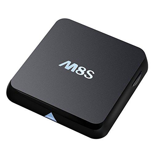 Bqeel M8S Android TV Box Amlogic S812 Quad Core con 2gb / 8gb flash 2,4 g / 5 g de doble banda Wi-Fi Smart TV preinstalado con Full Loaded