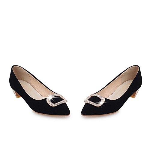 Adee Mädchen elegantes Polyurethan pumps-shoes Schwarz