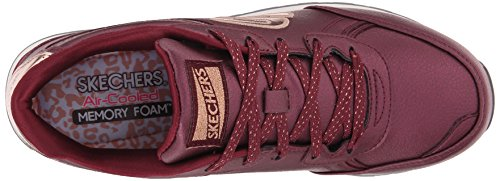 Skechers OG 82Shimmers, Scarpe da Ginnastica Donna Rosso (Rot (BURG))
