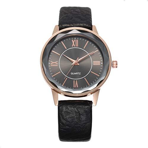Damen Herren Uhren,Pottoa Unisex Mode Klassisch Lederband Analoge Led Armbanduhr Unisex Armbanduhr Herren Quartz Analog Sale Billige Uhren Herren Uhren Lederband Damen Uhren