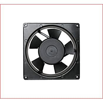Maa Ku 220V Aluminium Die Cast U0026 Plastic Kitchen Exhaust Fan (17x17x5  CM)(Black)