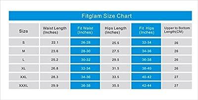 Fitglam Waist Trainer Weight Loss Lace Waist Cincher Girdle Shapewear for Women