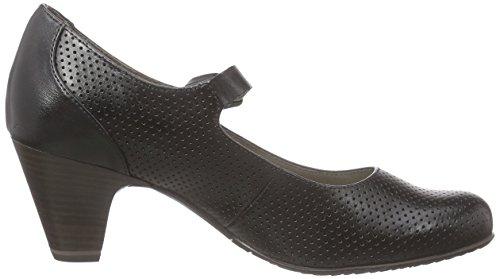 Tamaris 24405, Chaussures à talons - Avant du pieds couvert femme Noir - Schwarz (BLACK UNI 007)