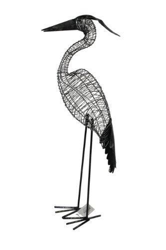 DRAGIMEX 44128 Héron décoratif Noir antique 22 x 13 x 57 cm