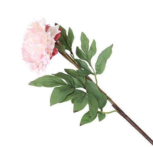 Floral Elegance F074DPL - Pivoine artificielle rose foncé de 80 cm