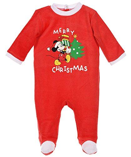 Pyjama noël bébé Mickey Sapin et cadeaux Rouge de 3 à 23mois (12 mois)
