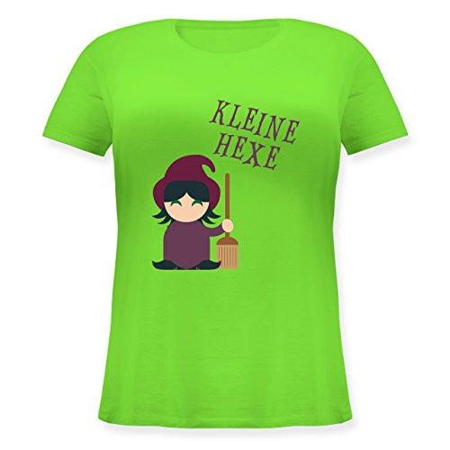 Halloween - Kleine Hexe süß - L (48) - Hellgrün - JHK601 - Lockeres Damen-Shirt in großen Größen mit Rundhalsausschnitt