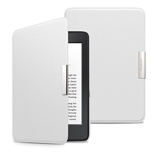 MoKo Kindle Paperwhite Hülle - Ultra Leightweight Slim Schutzhülle Smart Cover mit Auto Sleep / Wake Funktion für Alle Kindle Paperwhite (2016 / 2015 / 2013 Modelle mit 6 Zoll Display), Weiß