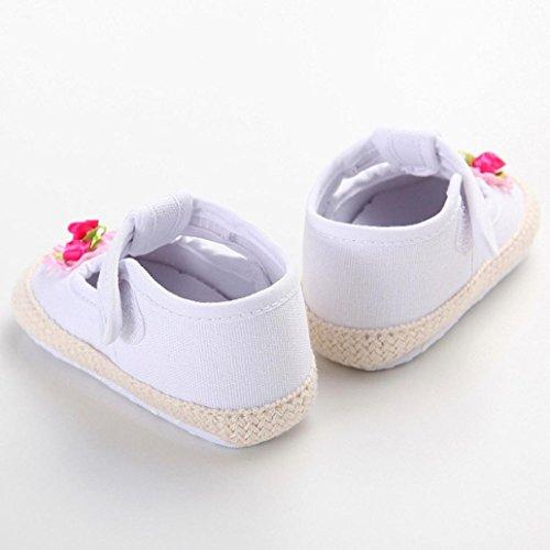 Xmansky Baby Mädchen Weich Sohle Schuhe Sneaker Weiß