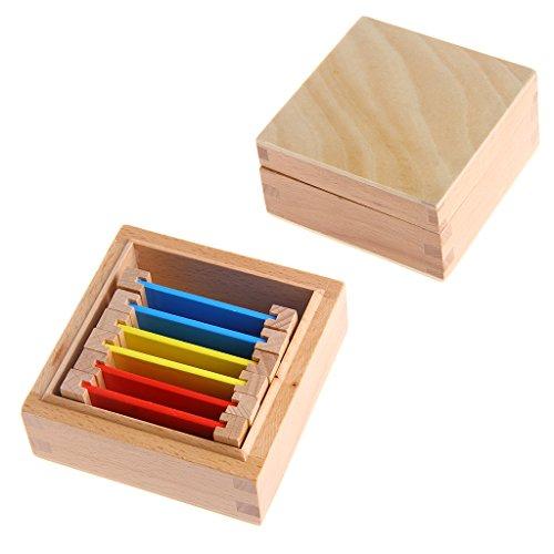 Característica:  Material: Madera  Color: Colorido  Aprendizaje temprano y desarrollo  Es para todos.  Puede desbloquear el potencial del niño  Nunca es demasiado temprano para empezar  Puede y debe ser divertido   3 pares de tres tarjetas de colores...
