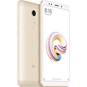 "Xiaomi Redmi 5 - Smartphone DE 5.7"" HD+ (14 NM Snapdragon Octa-Core, 16 GB, 12 MP, Android) Color Oro [Versión Española]"