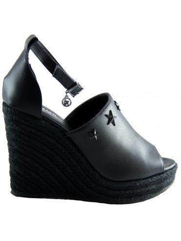 Armani Jeans 9251507P544, Sandalia con Pulsera para Mujer, Negro (Nero), 38 EU