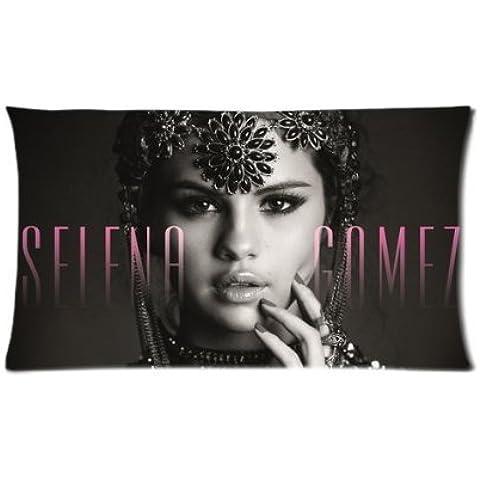 naihe algodón y Amp; Poliéster suave Rectángulo Pillow Cases Cover American Movie Actor estrella cantante de música banda serie Sexy Hot Popular Idol Selena Gomez Vintage Sculpt negro y blanco personalizado para diseño de ventiladores 20* 30inch dos