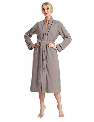 Loungewear-kollektion (Raikou Neu Damen Bademantel , Morgenmantel , Saunamantel mit Kapuze,Flauschig und weich,Verschiedene Farben?Größe 36-50 - 758103 (44/46, Anthrazit))