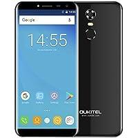 Telefonia Mobile, OUKITEL C8 Dual SIM Cellulari - 4G Smartphone Android 7.0 - MTK6580A Quad Core 1.3GHz - 5.5 Pollici HD Schermo - 2GB RAM+ 16GB ROM - 5.0MP Fotocamera Digitale - Nero