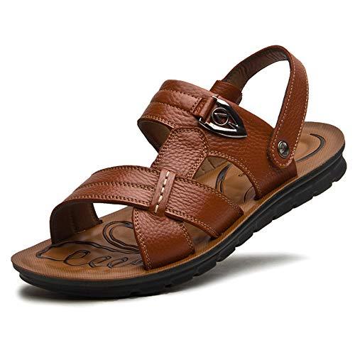 Hgdr sandali per gli uomini pantofole estive beach pool pescatori scarpe open toe slip-on flat slides brown black coffee,brown-49