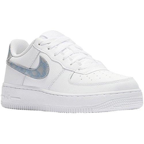 Nike AIR Force 1 (GS), Girl's Gymnastics Shoes, Bianco