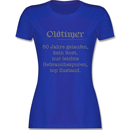 Geburtstag - 50 Jahre Oldtimer Fun Geschenk - tailliertes Premium T-Shirt mit Rundhalsausschnitt für Damen Royalblau