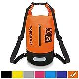 VIPFAN Borsa Impermeabile, Waterproof 5L/10L/20/30L Dry Bag per Piscine, Nave, Trekking, Kayak, Canoa, Pesca, Rafting, Nuoto, Campeggio, Tracolla Regolabile ?Arancione, 30L?