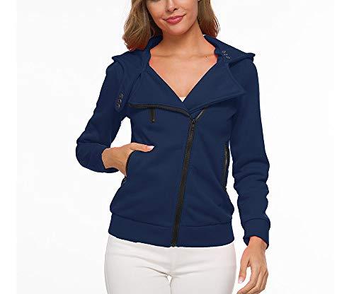 L'rain Kostüm - cxzas852 LGWQ Frauen Mantel Kleidung Mode Schöne Reißverschluss Pullover kurzen Absatz mit Tasche warme Kapuze weiblichen warmen Mantel Jacke Parka Outwear Outercoat