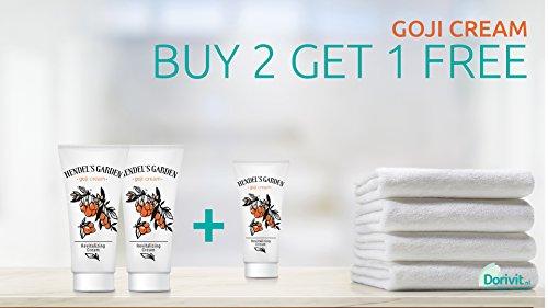 3 Tubes Hendel's Garden 50 ml. Goji cream Wrinkle free Acne Day and Night Cream by Hendels garden