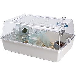 Ferplast Cage pour rongeurs Mini Duna Hamster, Panoplie complète d', Dimensions: 55x 39x 27cm