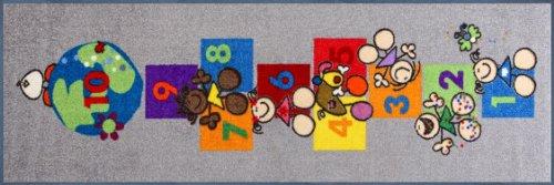 Preisvergleich Produktbild Wash+dry 031123 Fußmatte Fulanitos Number of Friends 60 x 180 cm