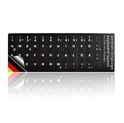 LEDELI Tastaturaufkleber Tastatur Aufkleber Keyboard Sticker Tastatur-Aufkleber für PC, Laptop, Notebook, Computer-Tastaturen (QWERTZ Deutsch Layout)