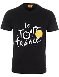 Tour de France Tdf-SA-3000 N L/B T-Shirt Homme, Noir, FR : L (Taille Fabricant : L)