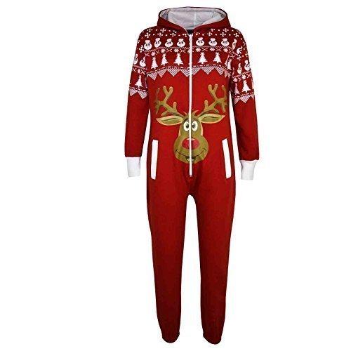 Kinder Mädchen Jungen Neuheit Weihnachten Rentier-aufdruck Fleece Overall Einteiler Hausanzug Kostüm Alter 5 6 7 8 9 10 11 12 13 Jahre (5-6 Jahre (110-116), (Jahren Für Jungen Zehn Kostüme)