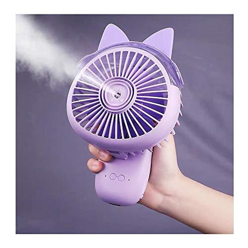Fan JUN Spray Kleiner Lüfter USB-Aufladung 2000 MAh Handheld Luftbefeuchter Kleiner Lüfter für Home Office Reise Student Schlafsaal (Color : Purple) (Stecker Für Baby-schaukel)