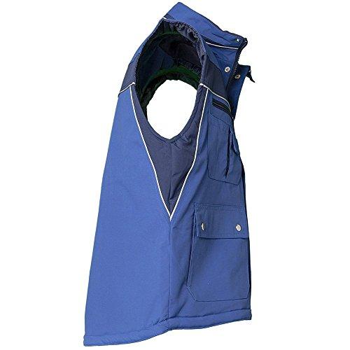 Plaline Arbeitskleidung Winter Weste rot/schiefer kornblau/marine